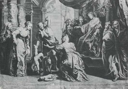 cb0c676ccfd9 Artist  Anonymous  Title  King Solomon s Judgement  Date  17th or 18th  century  Medium  Engraving. After Ragot s copy (Schneevoogt 1873